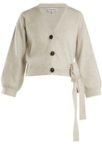 Apiece Apart Side-tie cotton and cashmere-blend cardigan