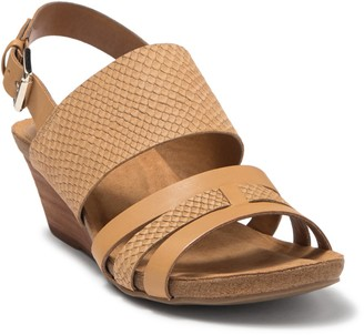 Sofft Velora Snakeskin Embossed Wedge Sandal