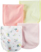 Carter's 4-pk. Pink Flower Burp Cloths - Baby Girls