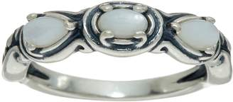 Carolyn Pollack Simply Fabulous Sterling Silver Three Gemstone Band Ring