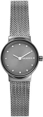 Skagen Womens Freja Dark Gray Steel-Mesh Watch