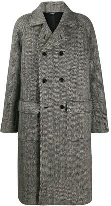 Dolce & Gabbana Herringbone Double-Breasted Coat