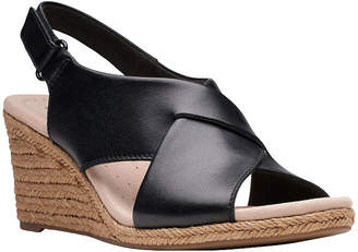 Clarks Womens Lafley Alaine Wedge Sandals
