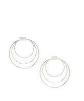 Carole Silvertone Triple-Layer Hoop Earrings