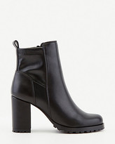 Le Château Faux Leather Round Toe Ankle Boot