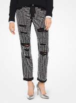 Michael Kors Embellished Distressed Jeans