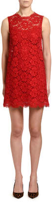 Dolce & Gabbana Sleeveless Cordonetto Lace Shift Dress