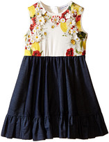 Dolce & Gabbana Fiori Denim Dress (Toddler/Little Kids)