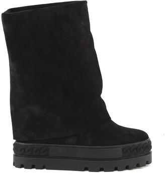 Casadei Renna Black Suede Boot