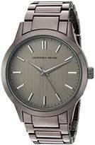 Geoffrey Beene Men's Quartz Metal and Alloy Dress Watch, Color:Black (Model: GB8102GU)