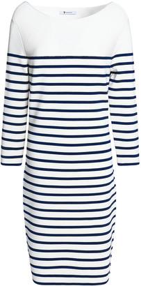 alexanderwang.t Striped Stretch-knit Mini Dress
