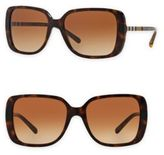 Burberry 57MM Check-Detail Square Sunglasses