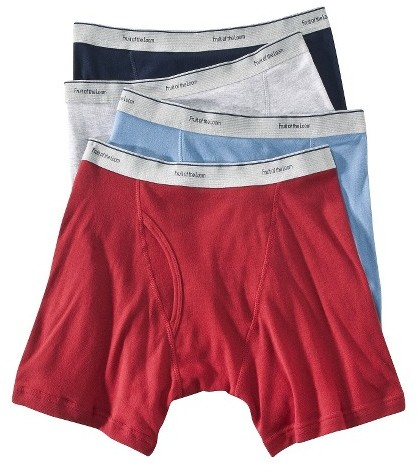 Fruit of the Loom Men's Boxer Briefs 4-Pack - Assorted Colors