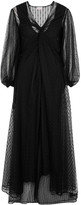 By Malene Birger Jaslene Black Tulle Maxi Dress