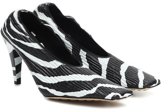 Bottega Veneta Zebra-print leather pumps