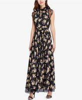 Tahari Lace & Floral-Print Gown