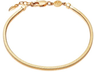 Missoma Lucy Williams Gold Square Snake Chain Bracelet