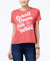 Mighty Fine Juniors' Scroll Down Graphic T-Shirt