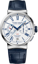 Ulysse Nardin 1533-150/E0 Marine Chronometer stainless steel and leather watch