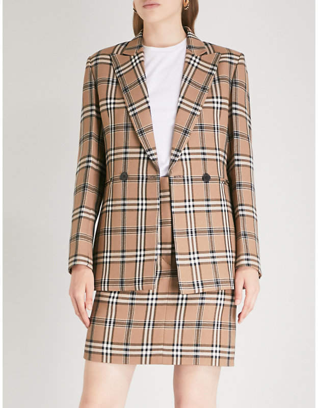 Sandro Checked woven jacket