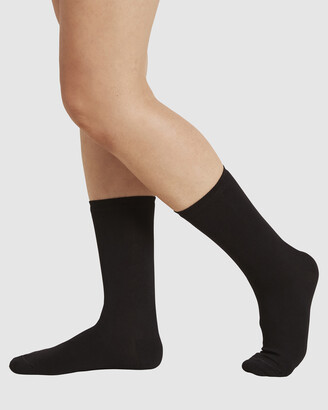 Boody Organic Bamboo Eco Wear - Women's Black Socks - 4 Pack Everyday Socks - Size One Size, 4-8 at The Iconic