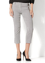 New York & Co. 7th Avenue Pant - Crop Straight Leg - Modern - Stripe