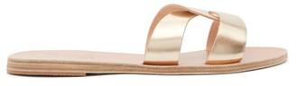 Ancient Greek Sandals Desmos Leather Slides - Gold