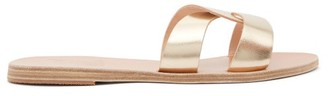 Ancient Greek Sandals Desmos Vachetta Leather Slides - Womens - Gold