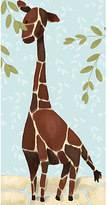 Gillespie the Giraffe Canvas Reproduction in Blue