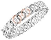 Effy 14K Rose Gold, Sterling Silver and Diamond-Accented Bracelet