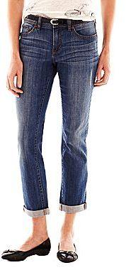 JCPenney jcpTM Cropped Boyfriend Jeans