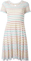 Marc Jacobs zigzag flared dress - women - Silk/Nylon/Viscose/Metallic Fibre - M