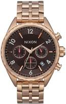 Nixon Women's 'Minx Chrono' Quartz Stainless Steel Casual Watch, Color:Rose Gold-Toned (Model: A9932617-00)