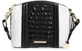 Brahmin Mini Duxbury - Crane Leather Crossbody Bag - Black