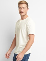 Gap Linen-cotton short sleeve henley