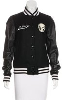 Lucien Pellat-Finet Leather-Paneled Varsity Jacket