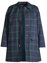 Thumbnail for your product : Lafayette 148 New York, Plus Size McKinleigh Plaid Coat