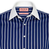 Thomas Pink Travis Stripe Shirt - Double Cuff