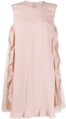 RED Valentino Sleeveless Tulle Panel Dress