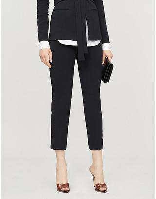 Pinko Natalia high-rise crepe tapered trousers