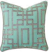 "Barclay Butera Hudson Turquoise Pillow, 22""Sq."