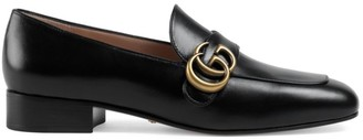 Gucci Double G Leather Loafers