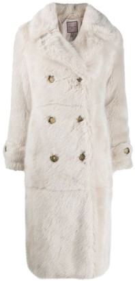 Urban Code Double-Breasted Fur Coat
