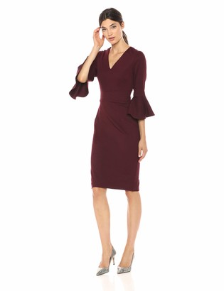 Trina Turk Women's Begonia Bell Sleeve Midi Dress