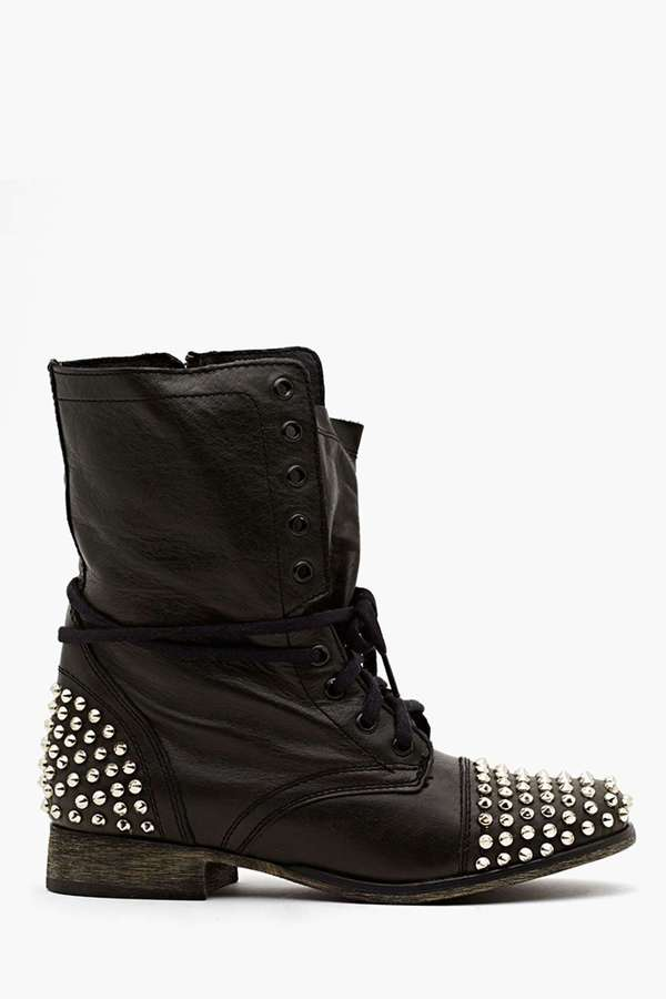 Nasty Gal Studded Combat Boot