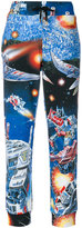 Moschino space print track pants - women - Cotton - 38