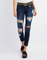 Charlotte Russe Machine Jeans Destroyed Skinny Jeans