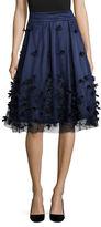 Eliza J Embellished A-Line Skirt