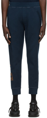 DSQUARED2 Navy Icon Ski-Fit Lounge Pants