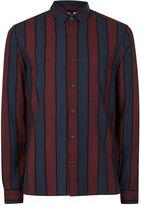 Topman Men's Dark Stripe Long Sleeve Shirt